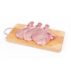 Cotes de porc frais 1000g